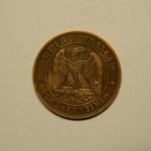 2 Centimes Napoléon III tête Laurée 1861A TTB EB90625