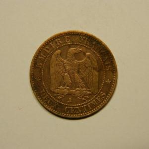 2 Centimes Napoléon III tête nue 1855A Chien TTB  EB90626