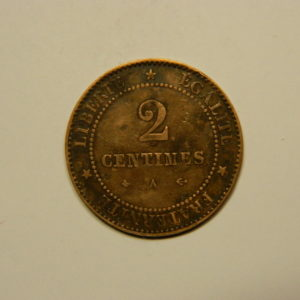 2 Centimes Cérès 1878A TTB   EB90628