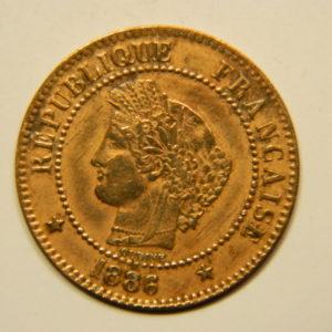 2 Centimes Cérès 1886A SUP   EB90635