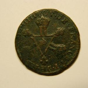 6 Deniers dits « Dardenne » Louis XIV 1711& Aix TB EB90638