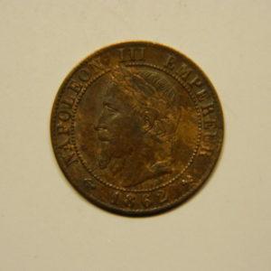 1 Centime Napoléon III tête laurée 1862K SUP EB90641