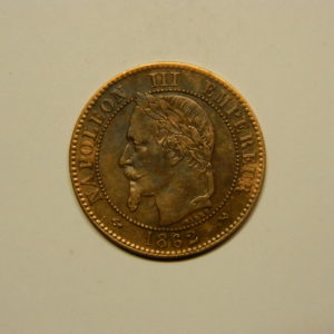 2 Centimes Napoléon III tête Laurée 1862K SUP EB90647