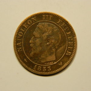 2 Centimes Napoléon III tête nue 1853W TTB RARE EB90650