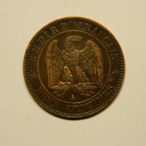 2 Centimes Napoléon III tête Laurée 1861A SUP EB90660