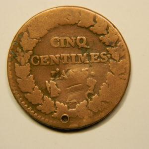 5 Centimes DUPRE An5A  B+  EB90665