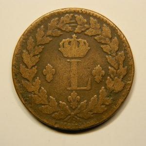1 Décime Louis XVIII 1815 BB 2 points TB+ EB90672