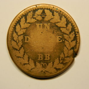 1 Décime Louis XVIII 1814 BB 2 points B EB90675
