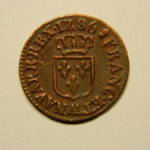 Liard à l'Ecu Louis XVI 1786AA TTB EB90680