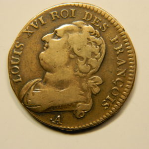 12 DENIERS François Louis XVI 1791.A TTB EB90682