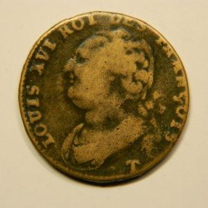 12 DENIERS François Louis XVI 1792T TB+ EB90684