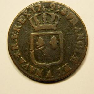 SOL à l'Ecu Louis XVI 1791A Heron TB/TB+ EB90688