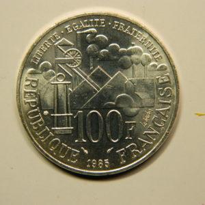100 FRANCS Emile Zola1985  SPL Argent 900°/°° EB90701