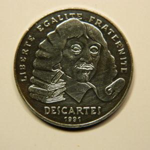 100 FRANCS Descartes 1991 SUP Argent 900°/°° EB90704