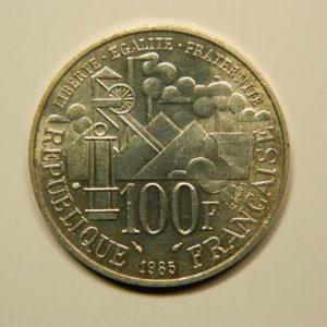 100 FRANCS Emile Zola1985  FDC Argent 900°/°° EB90707