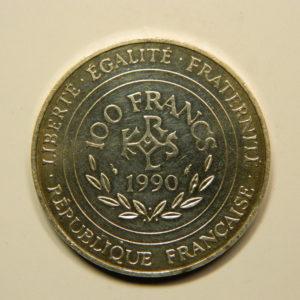 100 FRANCS Charlemagne 1990 SPL Argent 900°/°° EB90708