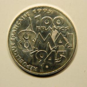 100 FRANCS 8 Mai 1945 1995 FDC Argent 900°/°° EB90715