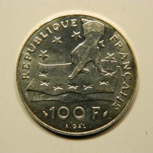 100 FRANCS Descartes 1991 SUP Argent 900°/°° EB90718