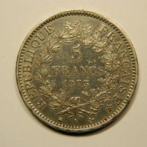 5 Francs Hercule 1873A SUP EB90732