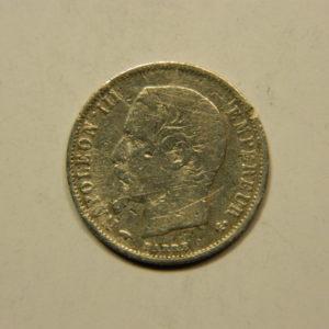 50 Centimes Napoléon III Tête nue 1858A TTB Argent 900°/°° EB90769