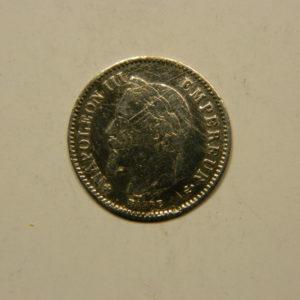 20 Centimes Napoléon III Tête laurée 1868BB TTB- Argent 835°/°° EB90772