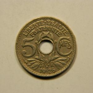 5 Centimes Lindauer petit module 1926 SUP EB90779