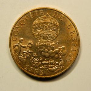 10 Francs Conquête de L'Espace 1983 SUP EB90791