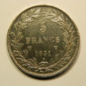 5 Francs Louis-Philippe Ier tête nue Tec1831W TTB++ EB90793