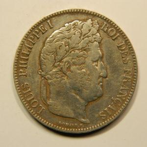 5 Francs Louis-Philippe Ier Tête Laurée 1842BB TTB EB90796