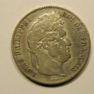 5 Francs Louis-Philippe Ier Tête Laurée 1842A TB EB90798