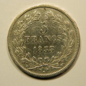 5 Francs Louis-Philippe Ier Tête Laurée 1833W TTB EB90799