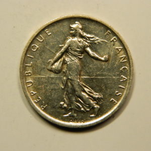 5 Francs Semeuse 1960 SUP Argent 835°/°° EB90803