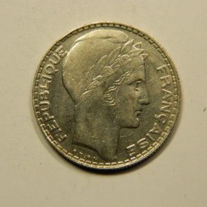 10 Francs Turin 1931 SUP- Argent 680°/°°  EB90805