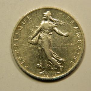 2 Francs Semeuse 1905 TTB Argent 835°/°° EB90806
