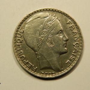 20 Francs Turin 1933 Rameaux Courts SUP Argent 680°/°°  EB90813