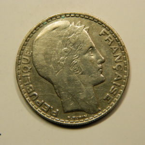20 Francs Turin 1933 Rameaux Longs TTB Argent 680°/°°  EB90814