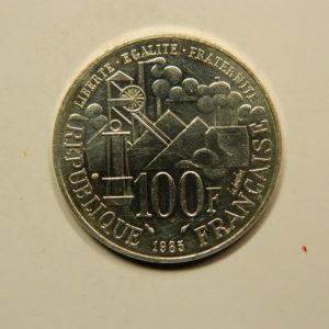 100 FRANCS Emile Zola1985  SUP Argent 900°/°° EB90817