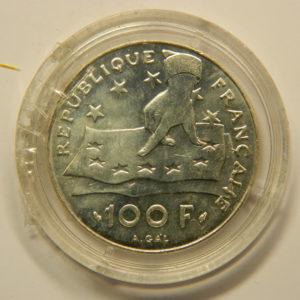 100 FRANCS Descartes 1991 FDC Argent 900°/°° EB90818