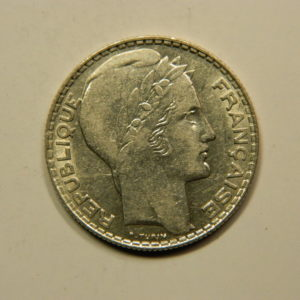 10 Francs Turin 1938 SUP Argent 680°/°°  EB90820