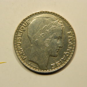 10 Francs Turin 1933 SUP Argent 680°/°°  EB90821