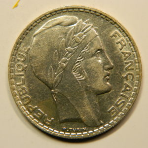 20 Francs Turin 1937 SUP Argent 680°/°°  EB90828