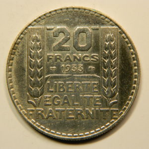 20 Francs Turin 1934  SUP Argent 680°/°°  EB90830