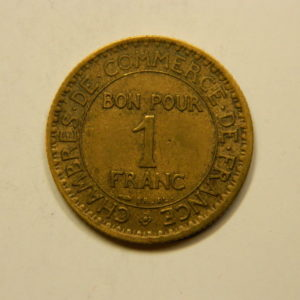 1 Franc Chambre de commerce 1922 SUP EB90832