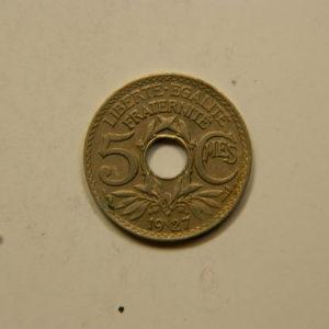 5 Centimes Lindauer petit module 1927 TTB EB90837
