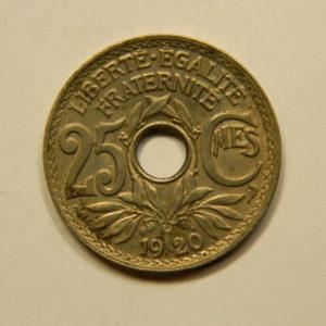 25 Centimes Lindauer Cupro-Nickel 1920 SUP EB90847