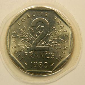 2 Francs Semeuse1980 FDC EB90853