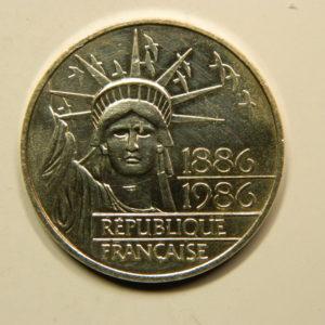 100 FRANCS Liberté1986 TTB+ Argent 900°/°° EB90859