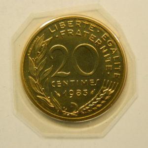 20 Centimes Marianne 1983 Pessac FDC EB90868