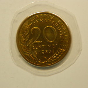 20 Centimes Marianne 1980 FDC EB90891