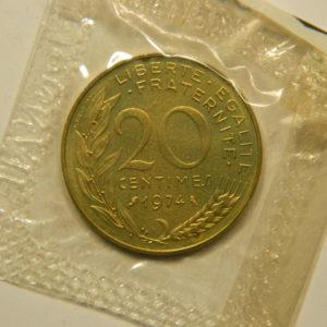 20 Centimes Marianne 1974 FDC EB90893